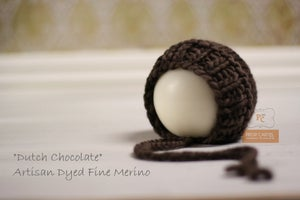 "Image of Ribbed Knit Bonnet - ""Dutch Chocolate"""