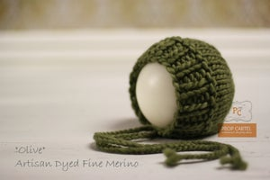 "Image of Ribbed Knit Bonnet - ""Olive"""