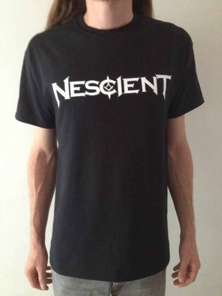 Image of Nescient White Logo T-Shirt