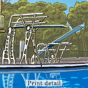 Image of Lambton Pool Digital Print