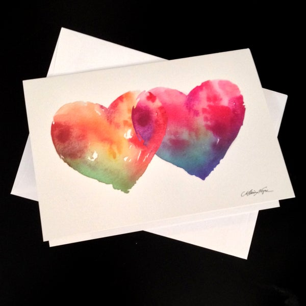 Image of Hearts 5-Pack Greeting Card Set