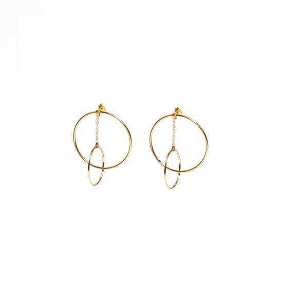 Imagen de Plume Hoop Earrings