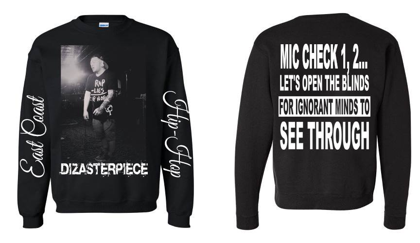 "Image of Dizasterpiece - ""OPEN THE BLINDS"" Crew Neck/Long Sleeve"