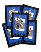 "Image of Flicknife ""Shoot From The Hip"" Sticker - 5 Pack"