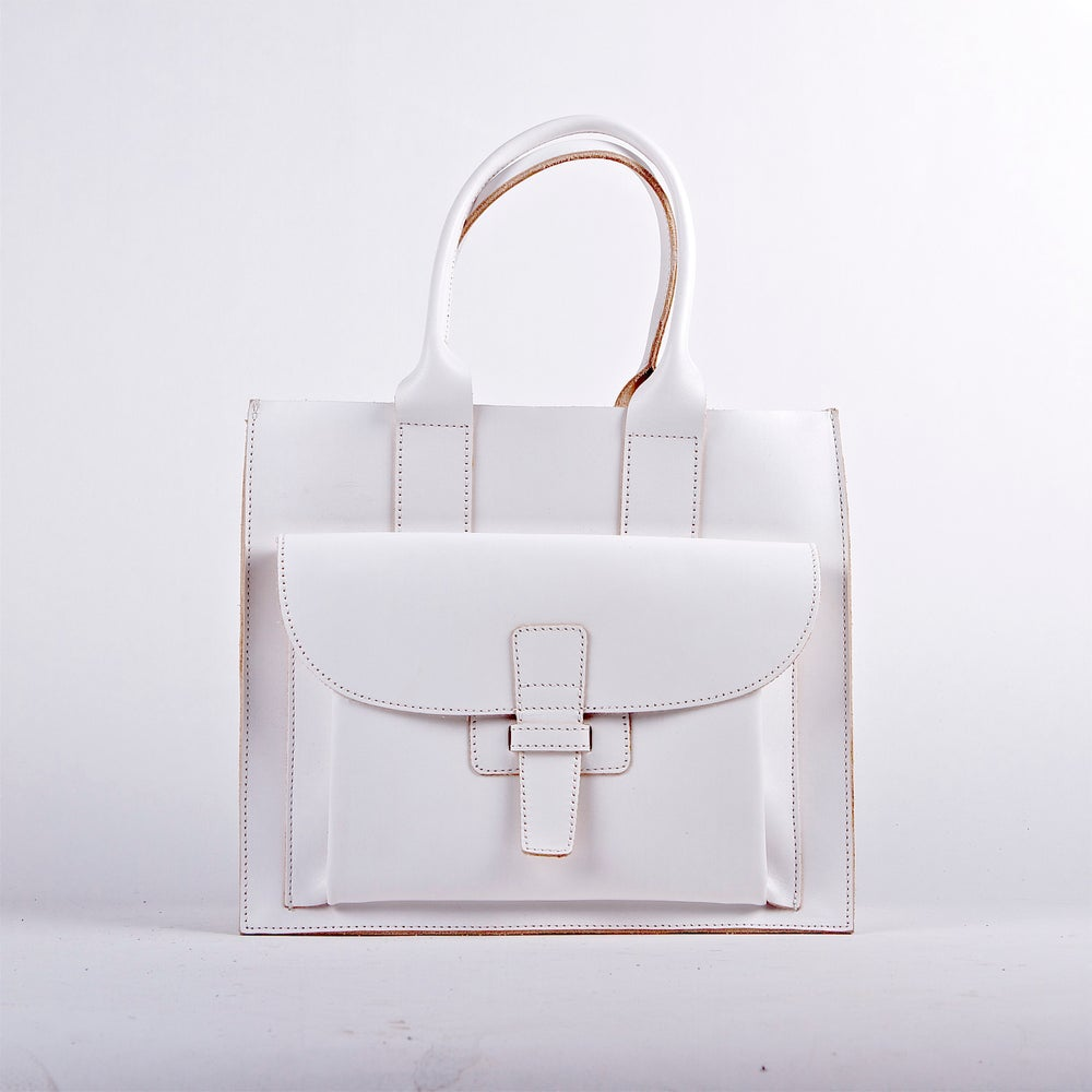 Image of Sac 1 / White Italian Leather