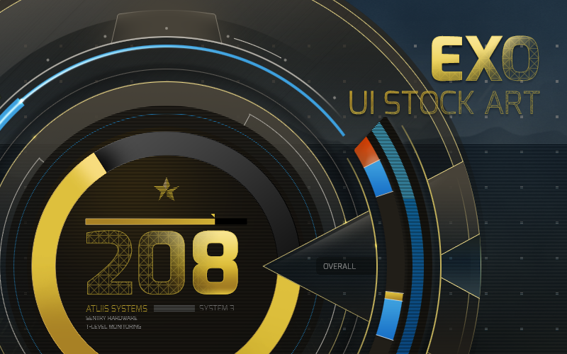 "Image of ""Exo"" UI Stock Art PSD"