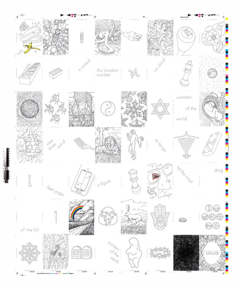 Image of FINE LINE Printing-Press Uncut Sheet