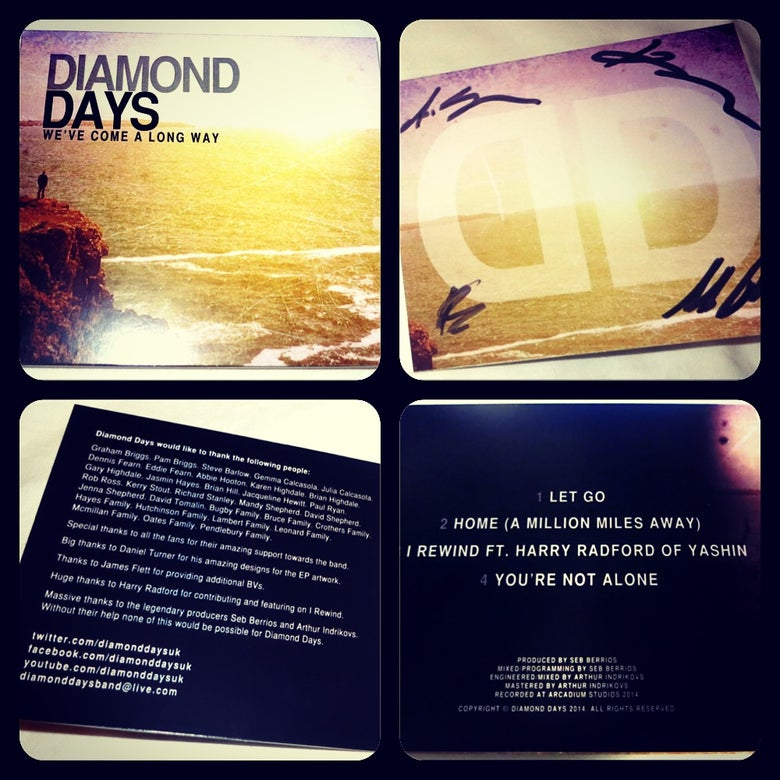 Image of Diamond Days - We've Come A Long Way signed EP