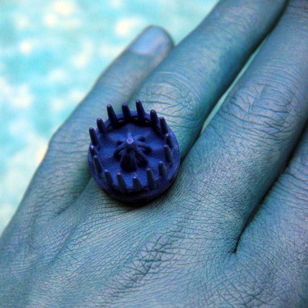 Image of 3D printed ring CROWN.1