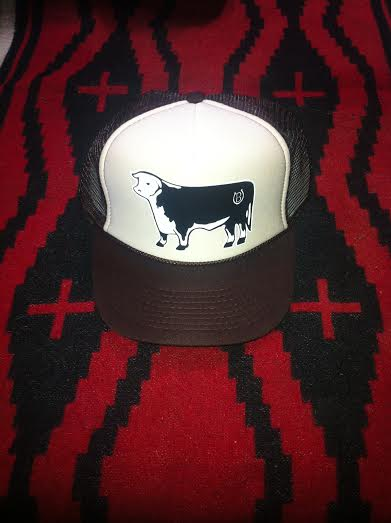Image of Lucky B Design Hereford trucker hat brown/tan