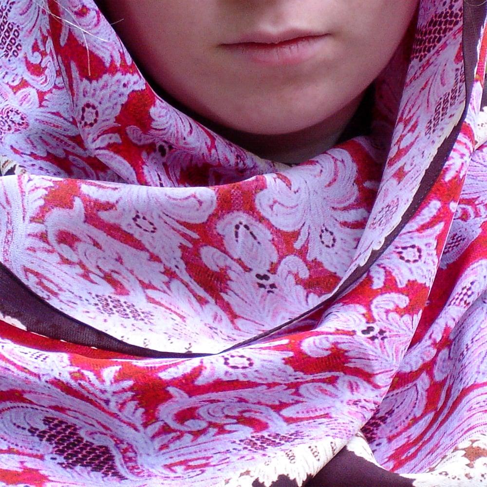 Image of Digitally printed silk scarf Pearls
