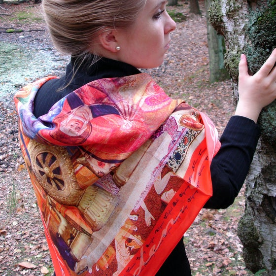 Image of Digitally printed silk scarf Religare