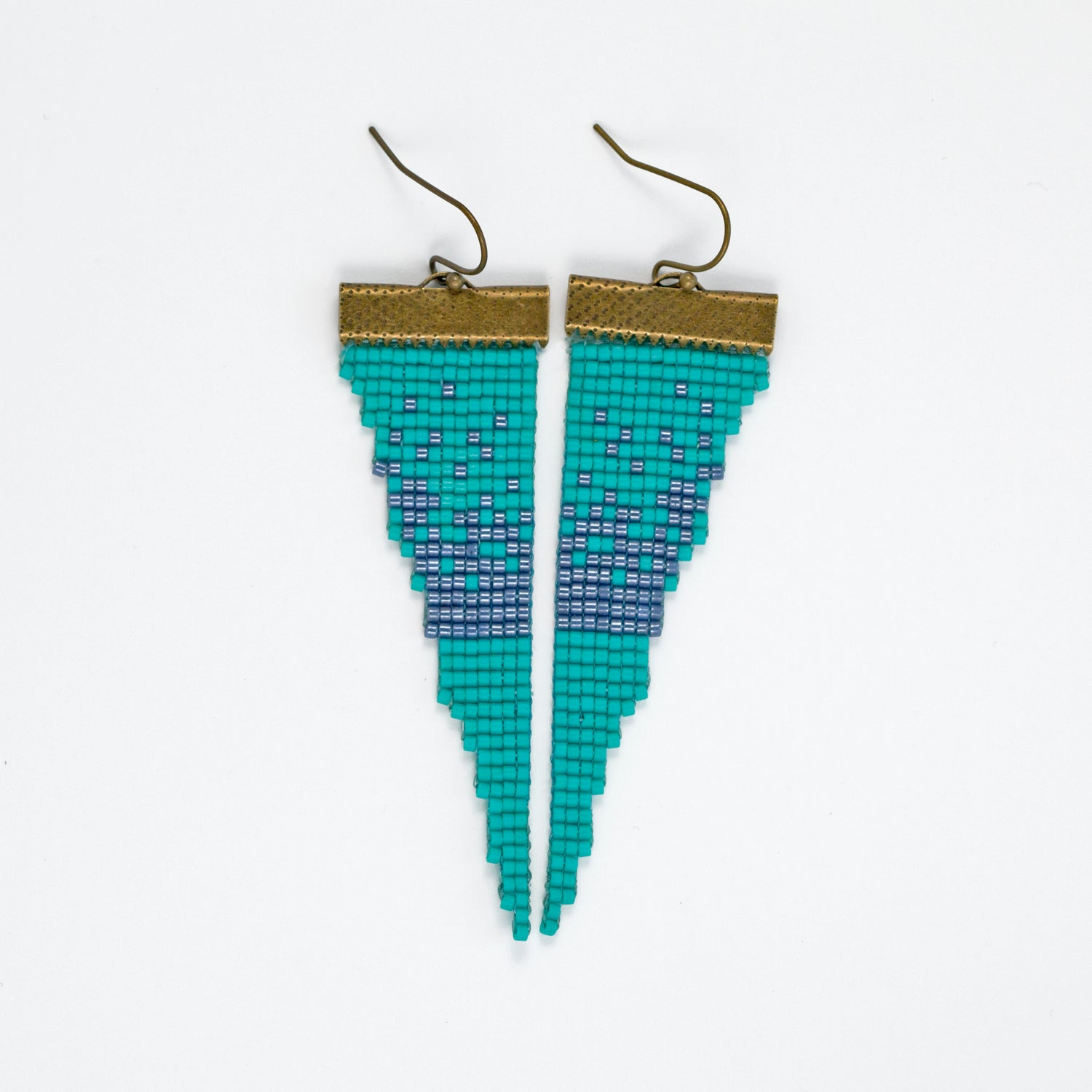 Image of Snowbird // Loom-beaded Earrings