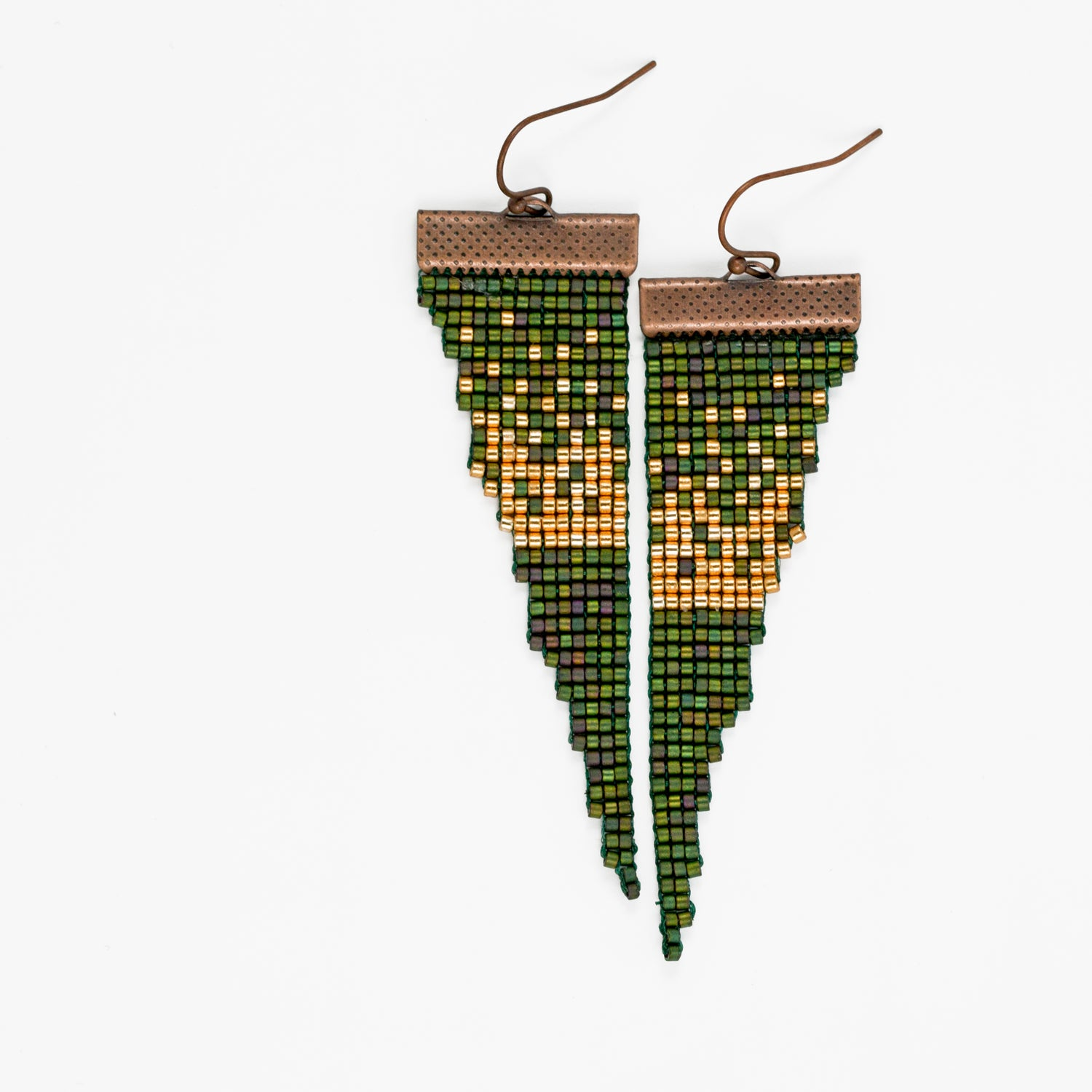 Image of Larch // Loom-Beaded Earrings