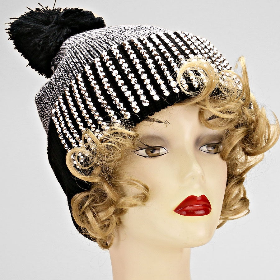 Image of Pom Pom Bling Winter Hat 76a1548dfbc