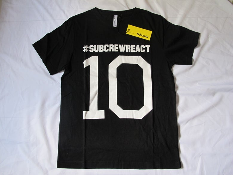 Image of Subcrew - Numbered 10 Tee (Black)