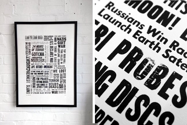 Image of Headlines - Screen Print