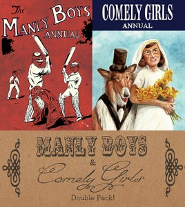Image of Manly Boys & Comely Girls Double Pack by Gareth Brookes & Steven Tillotson