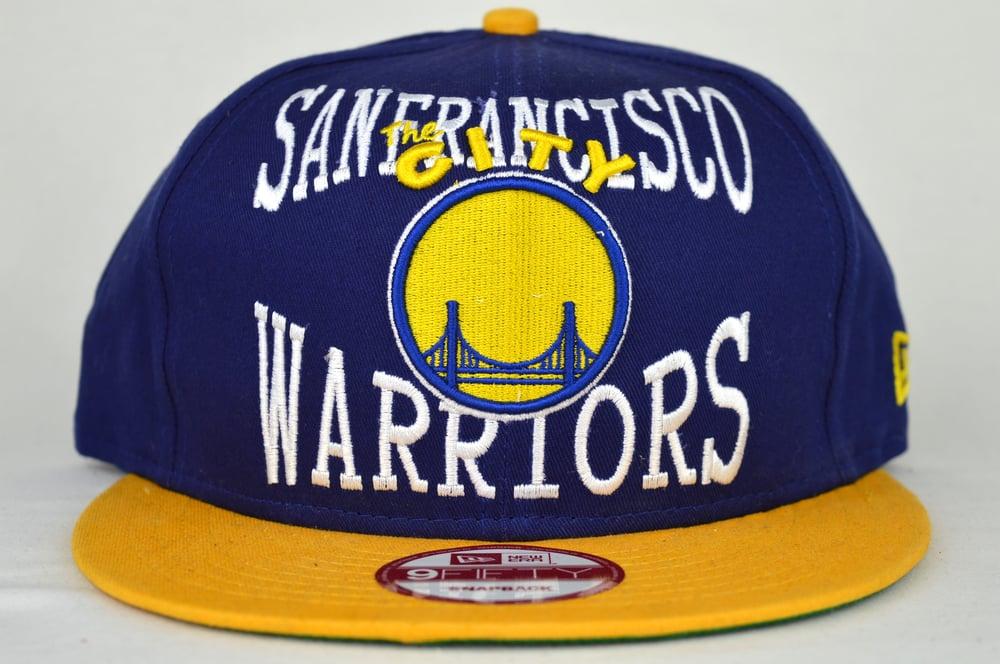 Image of SAN FRANCISCO WARRIORS NEW ERA SNAPBACK CAP (AIR JORDAN RETRO V LANEYS)