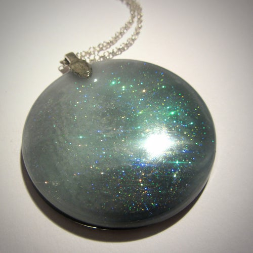 Image of Fairy Lagoon Large Round Resin Pendant