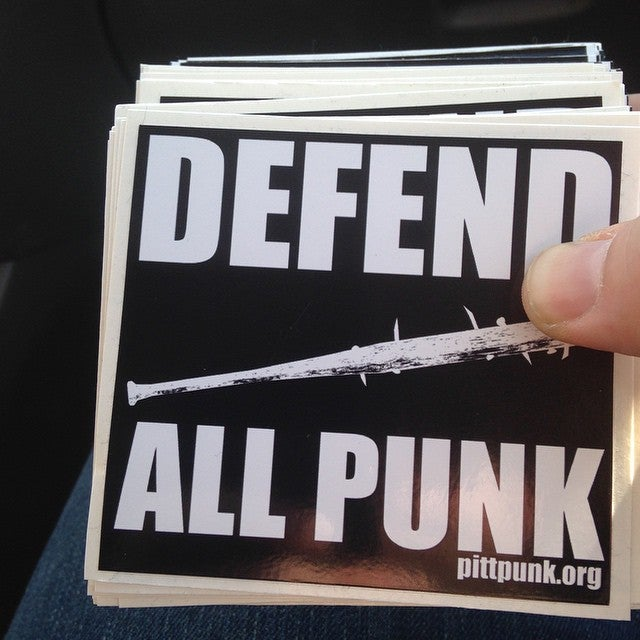 "Image of Pittpunk ""Defend All Punk"" Sticker."