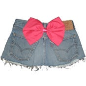 Image of Vintage Levis HOT PINK Bow Skirt