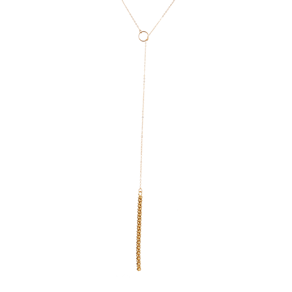 Image of Reversible Long Wiggly Textured Bar Lariat – (Style # N000229)
