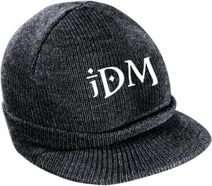 Image of iDM Knit Hat with Bill