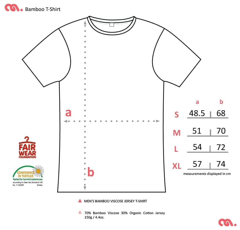 Friends Forever Men's White T-shirt (Organic Bamboo Blend)