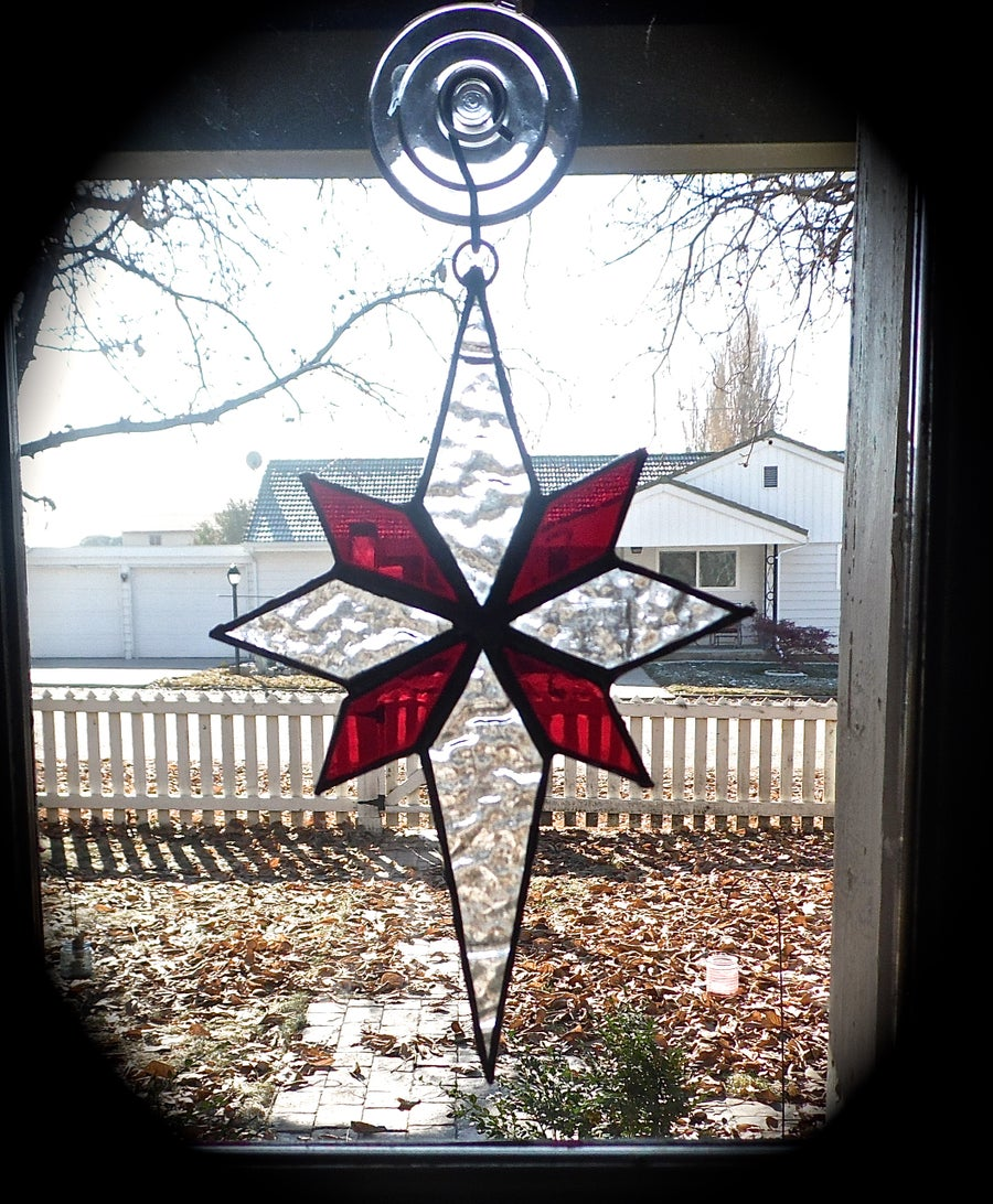 Image of North Star-Christmas stained glass
