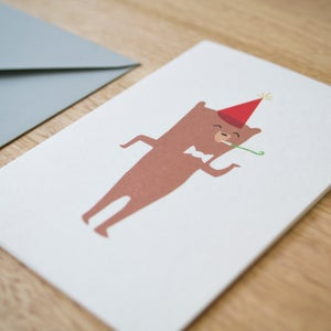 Image of Party Bear Greeting Card