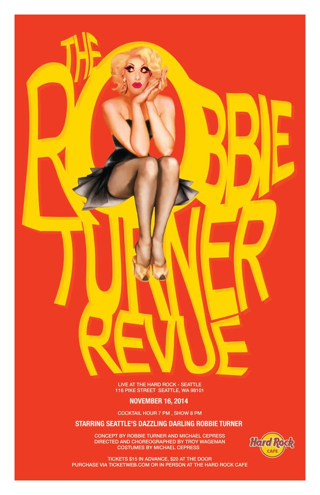 Image of Robbie Turner Revue Poster: November 2014