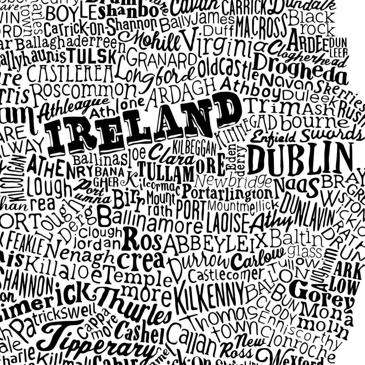 Image of Ireland Type Map