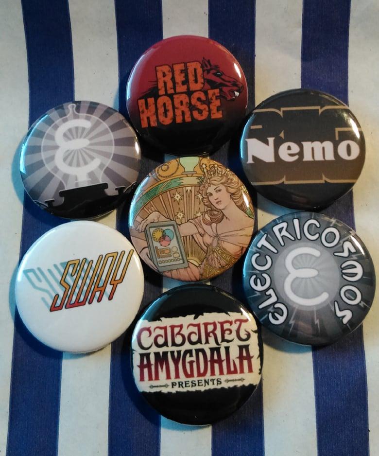 Image of Set of Seven Electricomics Badges