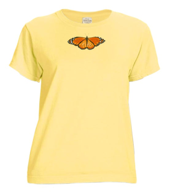 Image of Monarch Butterfly Ladies garment dyed t-shirt