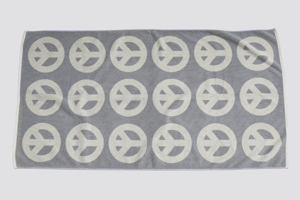 Image of Large Peace Towel <div> Gray & Scour</div>