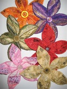 Image of 5 Petal Wired Flower Corsage/Brooch/Pin/Hair Barrette
