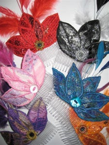 Image of Flapper Style 3 Petal Fascinator Comb