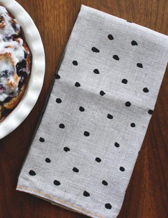 Image of Polka Dot Pyramid Tea Towel