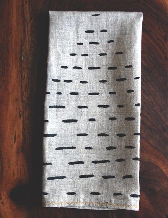 Image of Stripy Pyramid Tea Towel