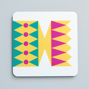 Image of Cracker coaster Yellow