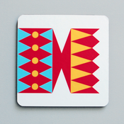 Image of Cracker coaster Red