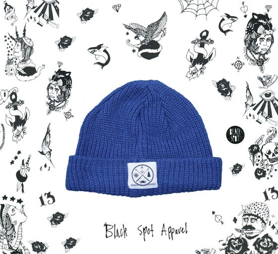 Image of Royal blue fisherman beanie