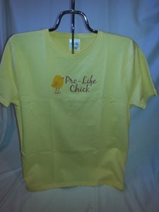 Image of Ladies Pro-Life Chick T-Shirt 100% Cotton