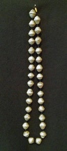 Image of Handcrafted Cream Necklace Made with Large Handcrafted Paper Beads 48""