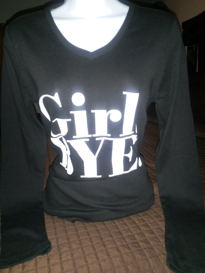 Image of Girl Bye Black Longsleeve Tee