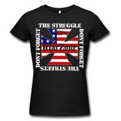 "Image of WARZONE ""Don't Forget The Struggle"" Black Girlie Shirt"