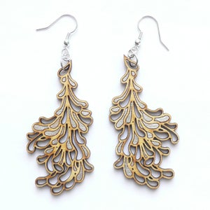 Image of Large Silver Blossom Earrings