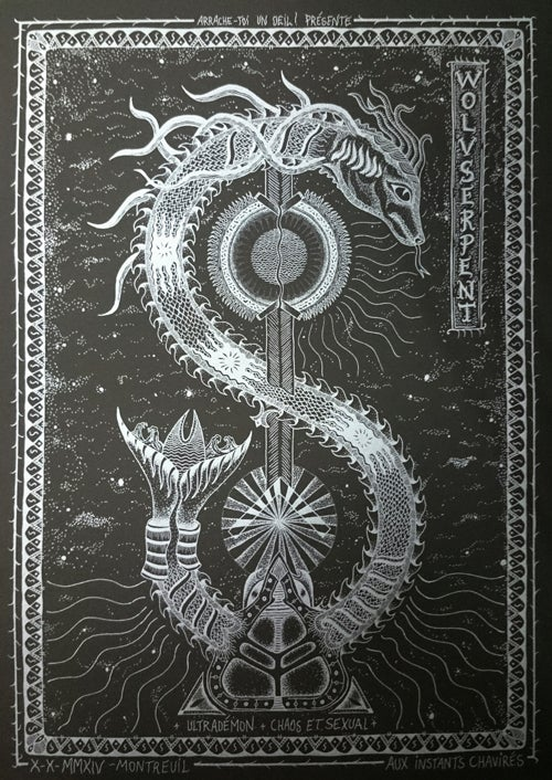 WOLVSERPENT (2014) Screenprinted Poster