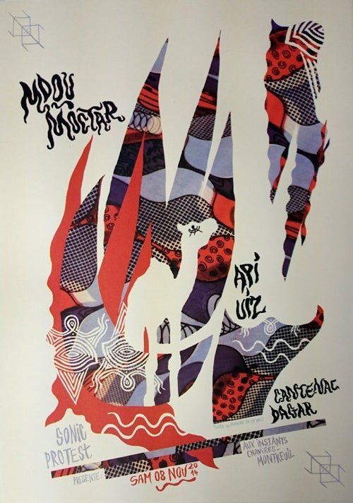 Image of MDOU MOCTAR + API UIZ (2014) Screenprinted Poster